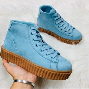 Shoes - Blue high top chunky sneaker